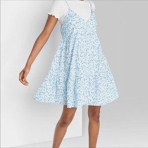 NWT Spring babydoll dress blue XS